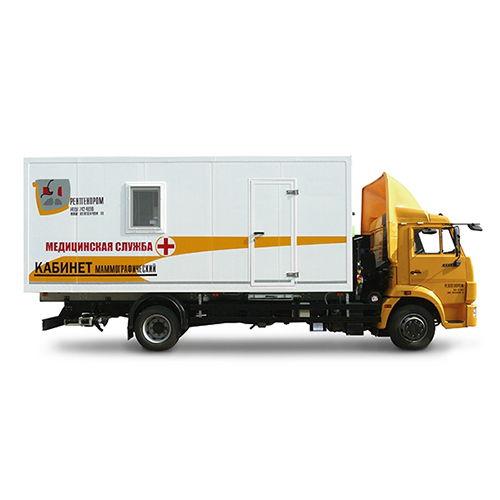 Кабинет маммографический передвижной на базе шасси КАМАЗ-4308 с цифровым маммографом МАММО-РПц