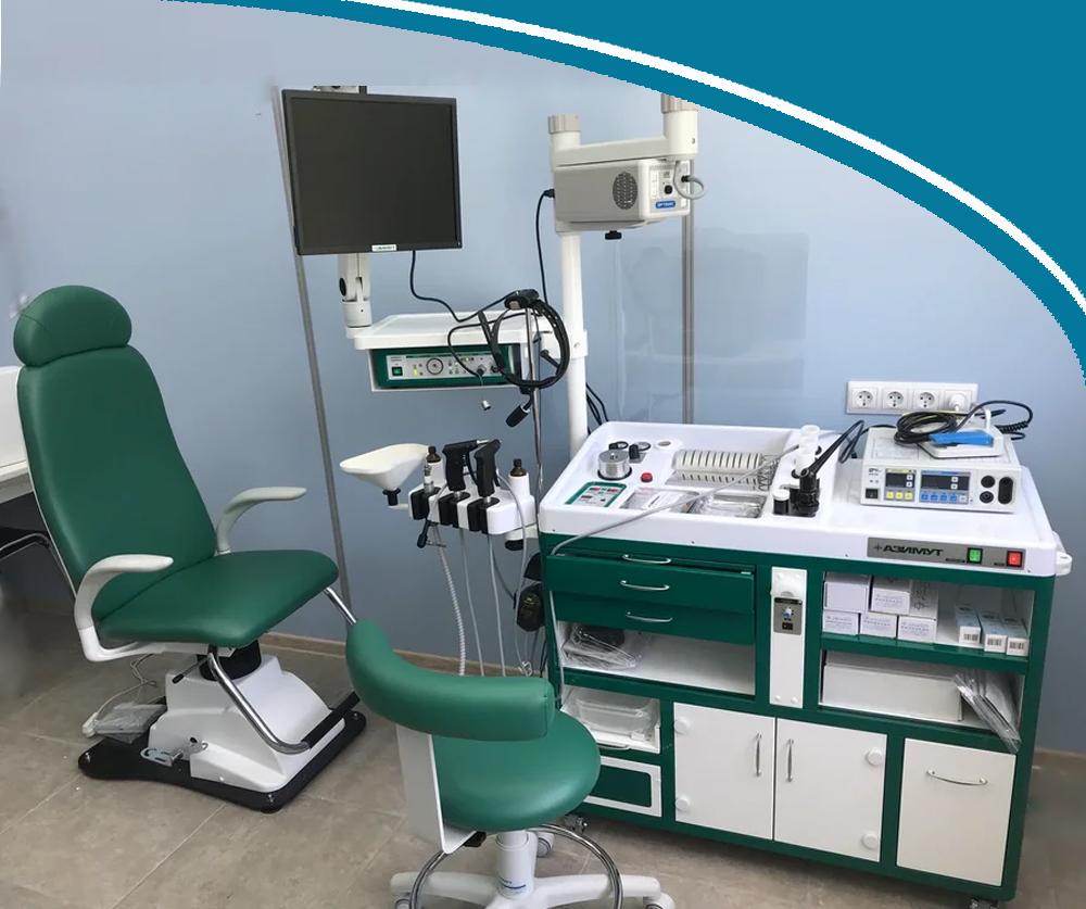 Рабочее место «АЗИМУТ» Установка оториноларингологическая